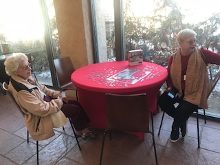 Immanuel Village, a senior living community, visits Lauritzen Gardens during a life enrichment activity