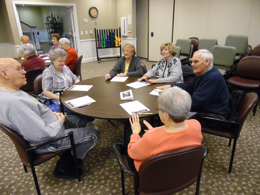 Pacific Springs Village residents wait for their appointment with a visiting podiatrist