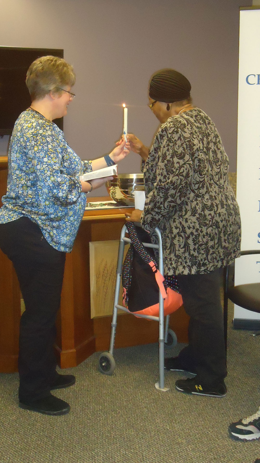 Immanuel Pathways in Omaha baptizes one of their participants at the center