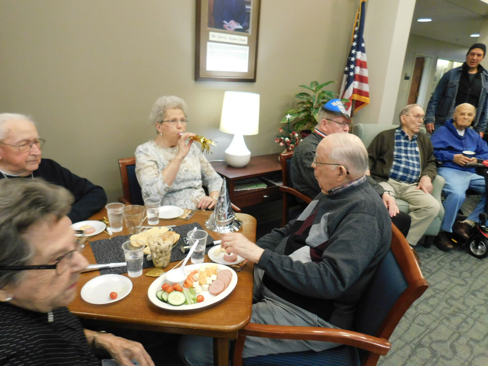 Clark Jeary, an Immanuel senior living community, enjoys a New Years Eve celebration