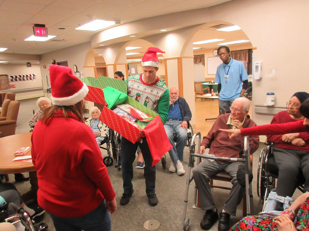 Immanuel Fontenelle senior living community receives a Cheer Box during the holiday season.